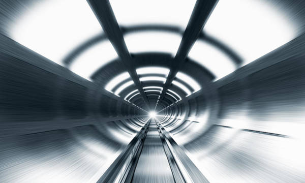 Symmetrical Digital Art - Railway Tunnel by Jorg Greuel