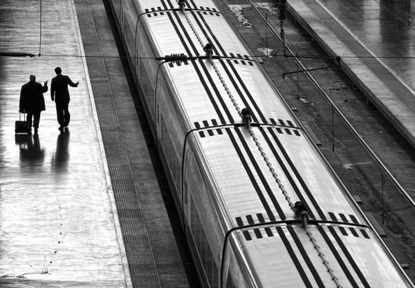 Passenger Photograph - Railwaystation by Marcel Van Balken