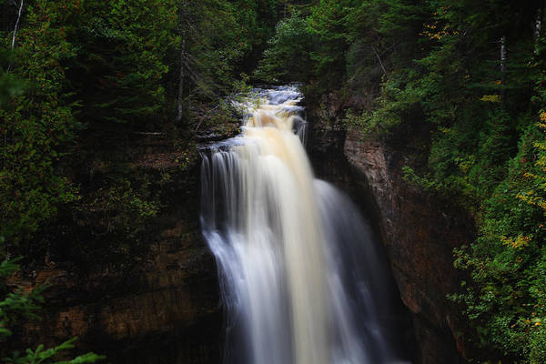 Photograph - Rain At Miners Falls by Rachel Cohen