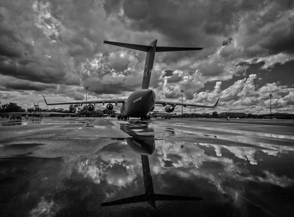 C-17 Photograph - Rain At The Base by Mountain Dreams