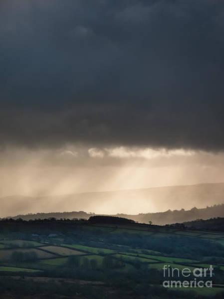 Moorland Photograph - Rain Clouds Over Dartmoor by Jan Bickerton