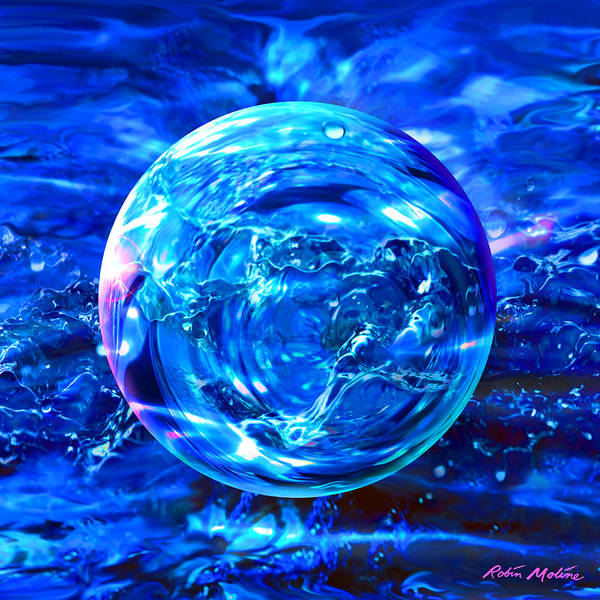 Liquid Digital Art - Rain Dance  by Robin Moline