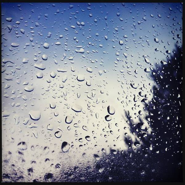 Subjective Wall Art - Photograph - Rain Drops On A Window Pane by Marco Oliveira