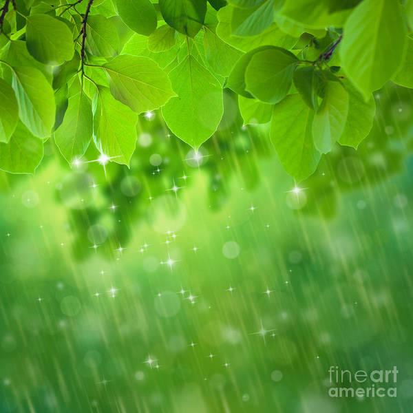 Wall Art - Digital Art - Rain Falls by Atiketta Sangasaeng