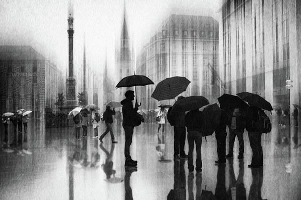 Rain In Munich Art Print