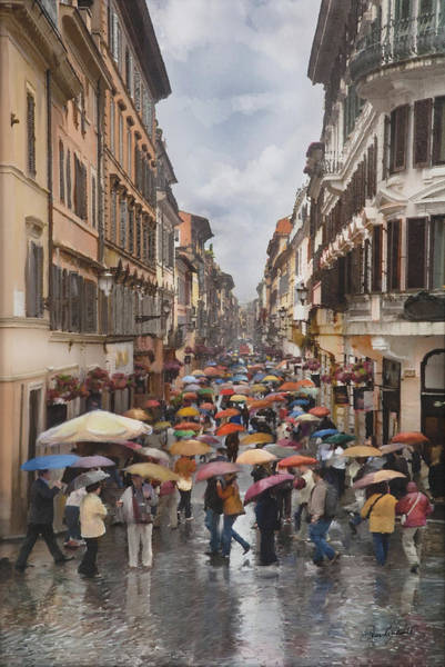 Photograph - Rain In Rome by David Brookwell