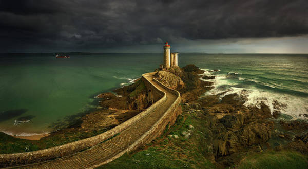 Lighthouse Photograph - Rain Is Coming ... by Krzysztof Browko