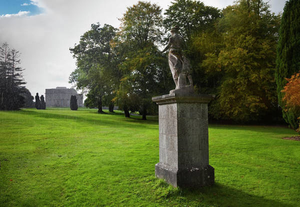 Court House Photograph - Rain On A Sculpture In The Gardens by Panoramic Images