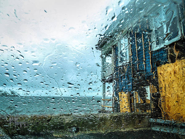 Photograph - Rain On Rowing Club House by Glenn Feron