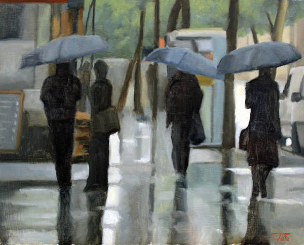 Wall Art - Painting - Rain On Saint Germain by Tate Hamilton