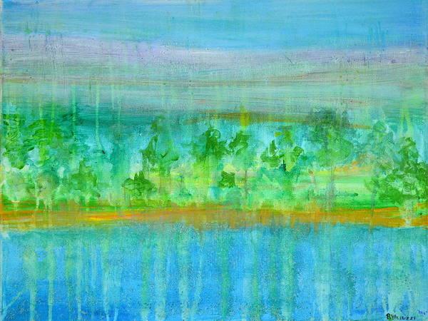 Painting - Rain  Original Contemporary Acrylic Painting On Canvas by Regina Valluzzi