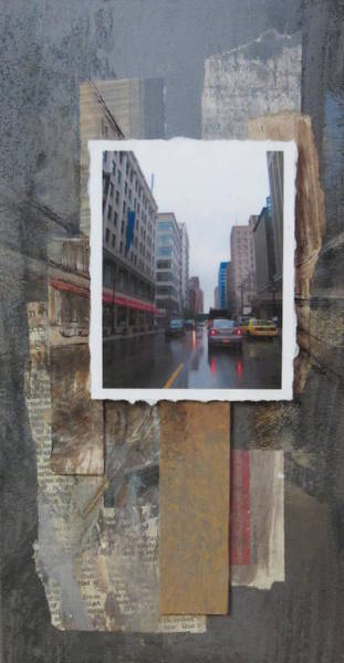 Mixed Media - Rain Wisconcin Ave Tall View by Anita Burgermeister