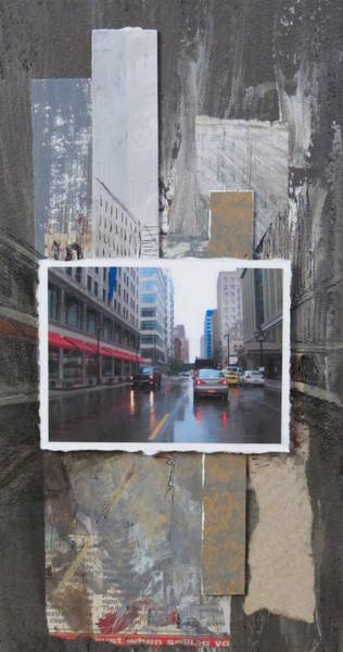 Mixed Media - Rain Wisconsin Ave Wide View by Anita Burgermeister