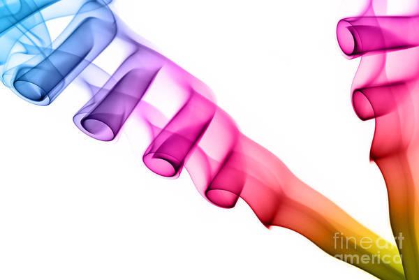 Rauch Wall Art - Photograph - Rainbow Smoke Photography by Sabine Jacobs
