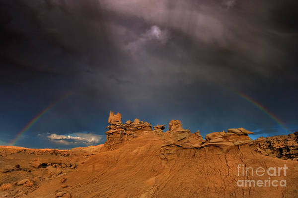 Photograph - Rainbow And Sandstone Formations Fantasy Canyon Utah by Dave Welling