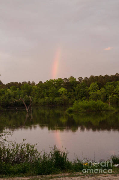 Lake Juliette Photograph - Rainbow At Sunset by Donna Brown