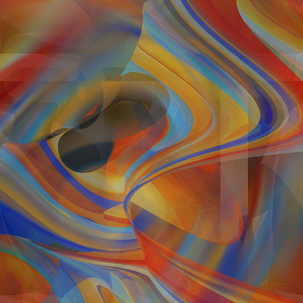 Digital Art - Rainbow At Work by rd Erickson