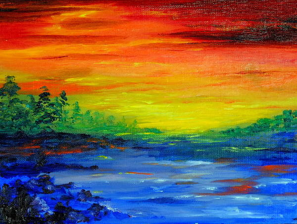 Rainbow Back Waters Art Print