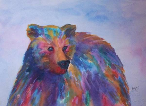 Wall Art - Painting - Rainbow Bear by Ellen Levinson