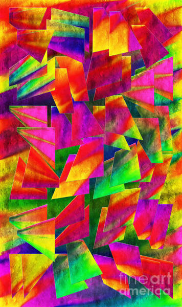 Digital Art - Rainbow Bliss 2 - Twisted - Painterly V by Andee Design