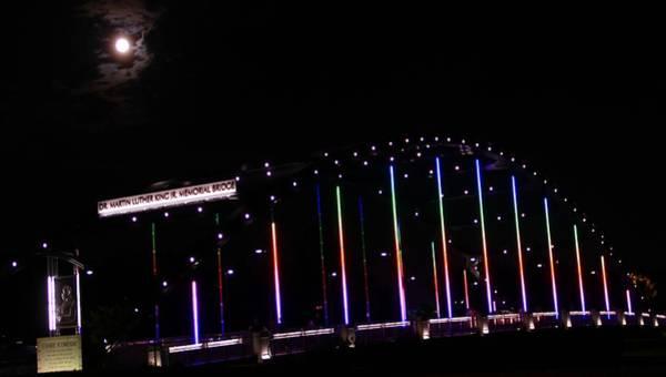 Wall Art - Photograph - Rainbow Bridge And Super Moon by Dan Sproul