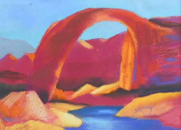 Elwood Blues Painting - Rainbow Bridge by Jann Elwood
