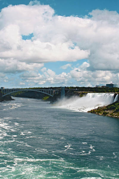 Photograph - Rainbow Bridge - Niagara Falls Waterscape by Ben and Raisa Gertsberg