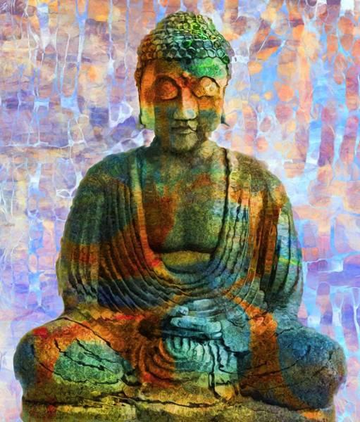 Gautama Digital Art - Rainbow Buddha by Dan Sproul