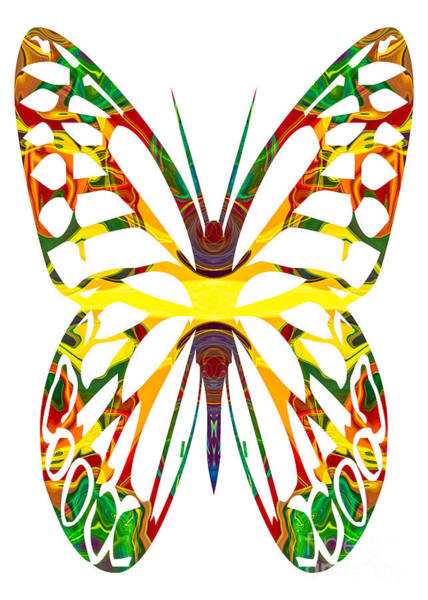 Painting - Rainbow Butterfly Abstract Nature Artwork by Omaste Witkowski