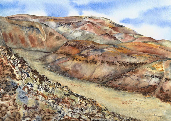 Death Valley Painting - Rainbow Canyon by Lynne Bolwell