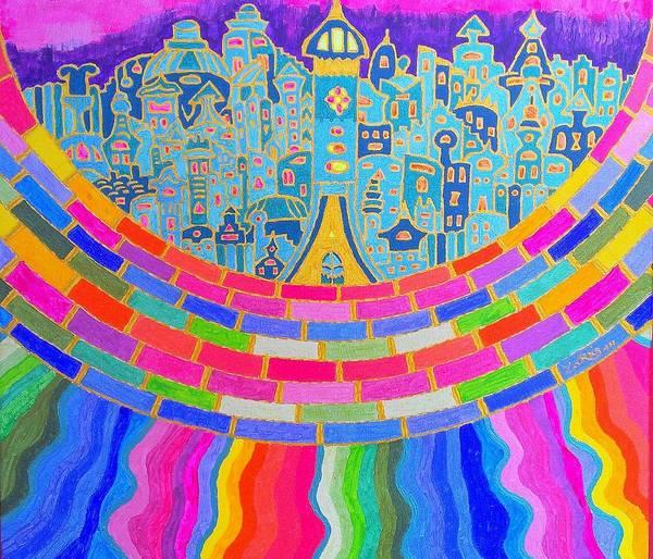 Initiation Painting - Rainbow City by Mauro Zaraj