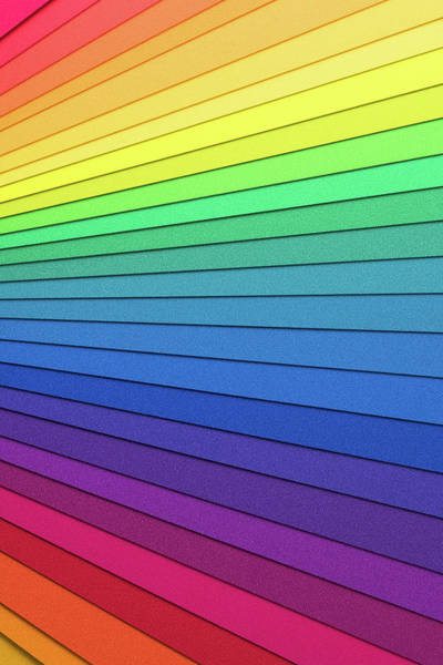 Photograph - Rainbow Colored Paper by Miragec