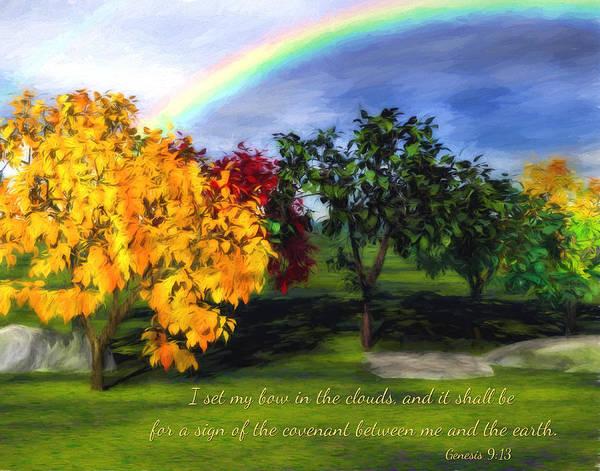 Digital Art - Rainbow Covenant Genesis by Denise Beverly