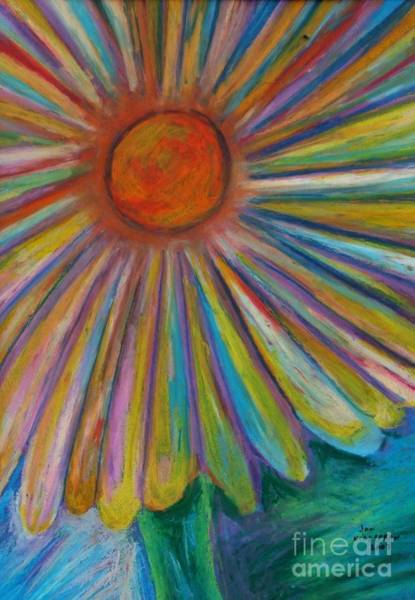 Drawing - Rainbow Daisies by Jon Kittleson