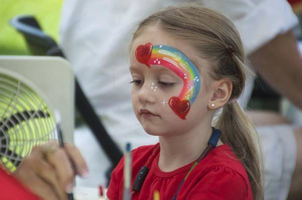 Photograph - Rainbow Face Painting by Floyd Snyder
