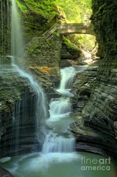 Photograph - Rainbow Falls Into The Canyon by Adam Jewell