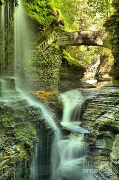 Photograph - Rainbow Falls Portrait by Adam Jewell