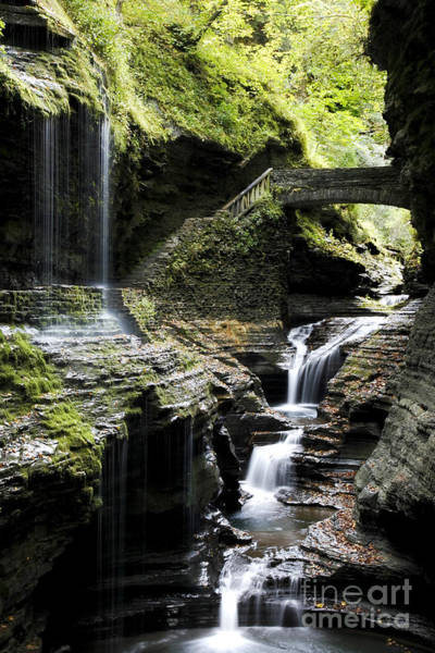 Wall Art - Photograph - Rainbow Falls Watkins Glen by Roger Bailey