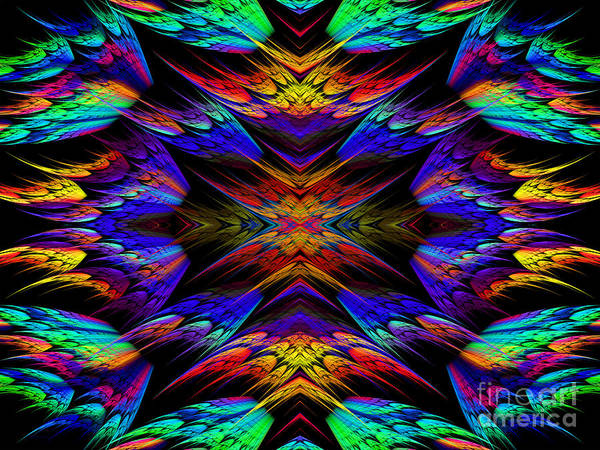 Wall Art - Digital Art - Rainbow Flyers by Andee Design