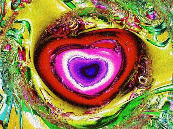 Mixed Media - Rainbow Heart by Anastasiya Malakhova