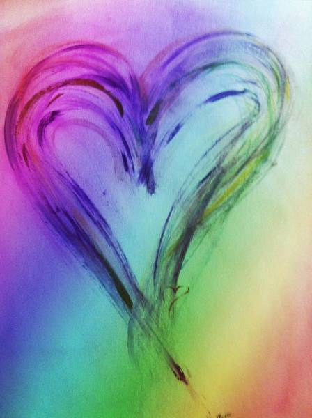 Painting - Rainbow Heart by Marian Palucci-Lonzetta