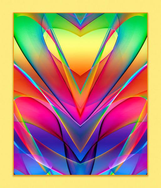 Digital Art - Rainbow Hearts by Rick Wicker