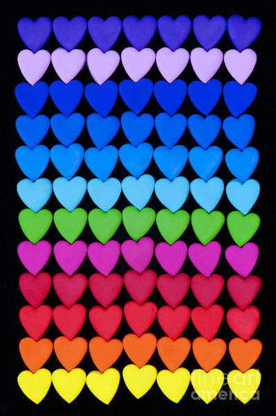 Loving Photograph - Rainbow Hearts by Tim Gainey