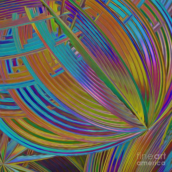 Generative Painting - Rainbow Hues Abstract by Deborah Benoit