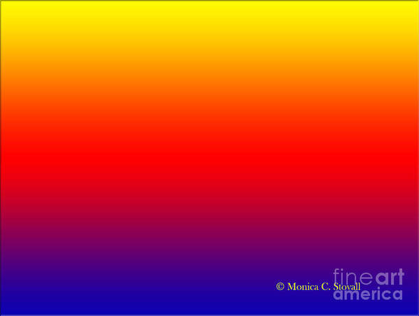 Digital Art - Rainbow Hues Color Design Collection by Monica C Stovall