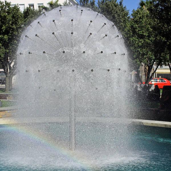 Photograph - Rainbow In Fountain by Tony Murtagh