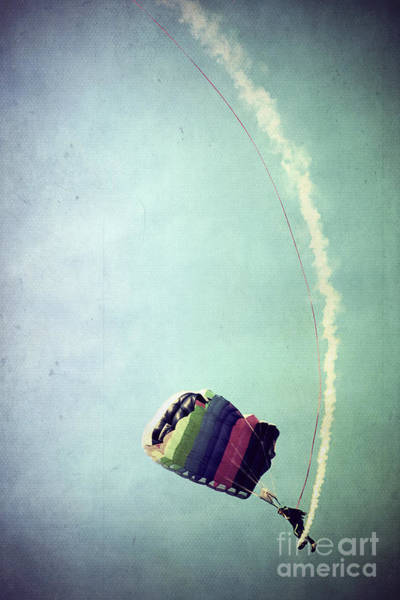 Skydiver Photograph - Rainbow In Motion by Trish Mistric
