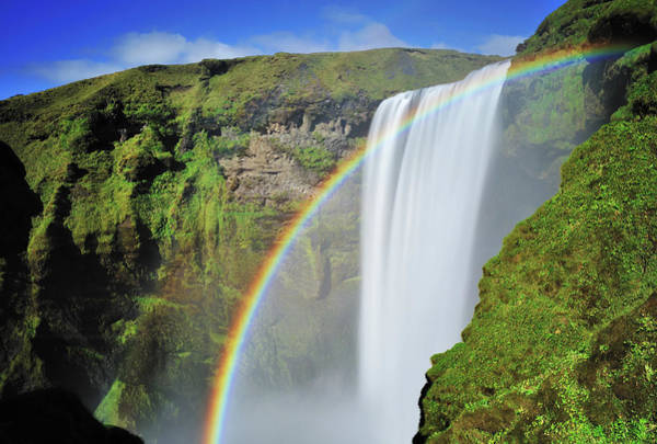 Wall Art - Photograph - Rainbow In Skogafoss Waterfall, Iceland by Nora Carol Photography
