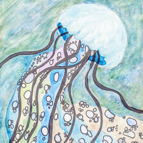 Jellyfish Painting - Rainbow Jellyfish by Amanda Elwell