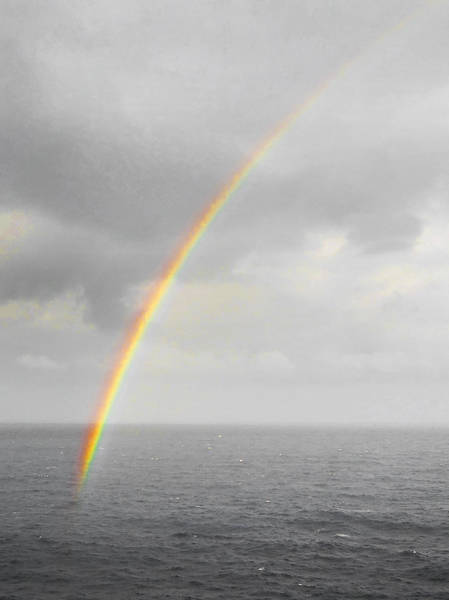Photograph - Rainbow by Judy Hall-Folde